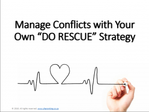 "Manage Conflicts with Your Own ""Do Rescue"" Strategy"